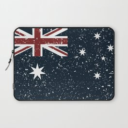 Old scratched Australian flag Laptop Sleeve