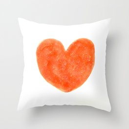 Cute Strawberry Red Heart Throw Pillow