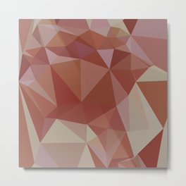 Congo Pink Abstract Low Polygon Background Metal Print