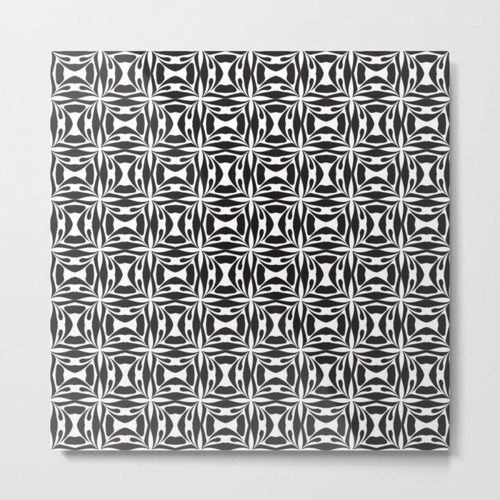 pattern black form 8 Metal Print