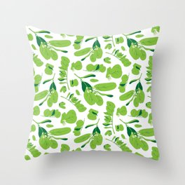 Bright Green Throw Pillow