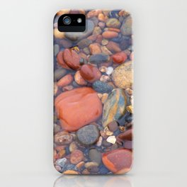 Beach Stones Along Lake Superior iPhone Case