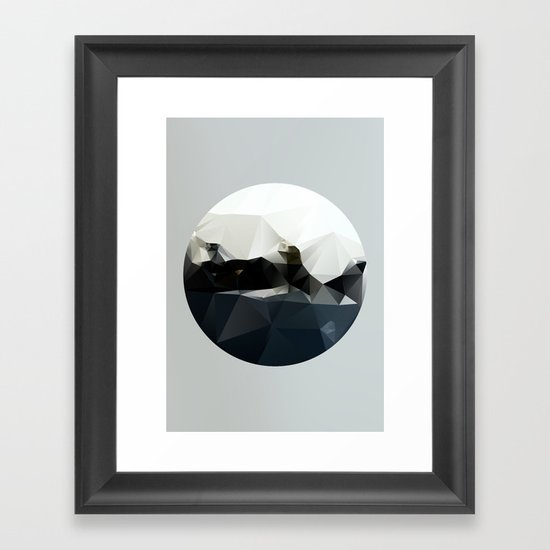 Island at Sea Framed Art Print