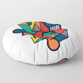 Geometric abstract modern color Floor Pillow