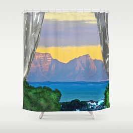 Open Window Sunrise False Bay Shower Curtain