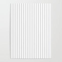 White Black Pinstripes Minimalist Poster