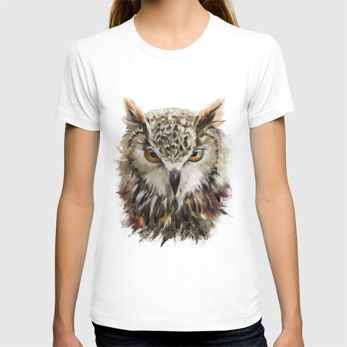 Owl Face Grunge T-shirt