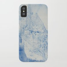 Gum arabic print of rock Slim Case iPhone X