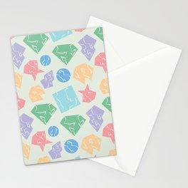 Broken Shapes Stationery Cards