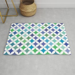 Geometric Star Pattern - Sea Foam #477 Rug