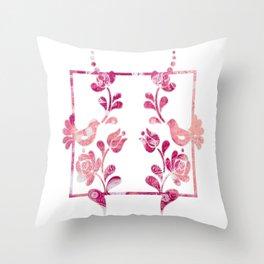 Textured Folk Art Throw Pillow