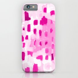Zimta - pink abstract painting dots mark making canvas art decor iPhone Case