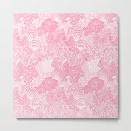 Peach Petals Metal Print