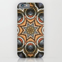 Sapphire and Gold // Visionary Art Star Sacred Geometry Blue Circle Geometric Healing Consciousness iPhone Case