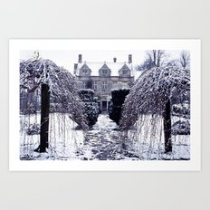Barnsley House In Winter Art Print