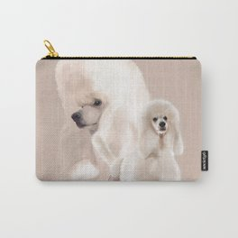 Elegant White Poodle Pastel Collage Carry-All Pouch