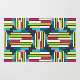 Striped Circle Pattern Rug