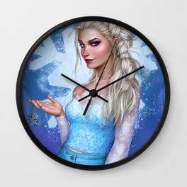 Snow Queen Wall Clock