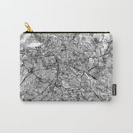 Berlin White Map Carry-All Pouch