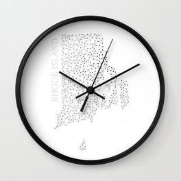 Rhode Island LineCity W Wall Clock