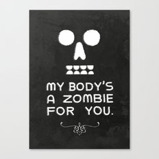Zombie Love Canvas Print