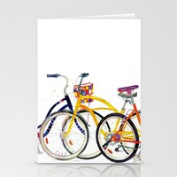 bikes Stationery Cards featuring bikes by takmaj