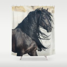 Sand Storm Stallion Shower Curtain