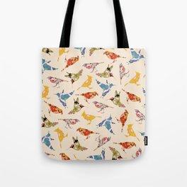 Vintage Wallpaper Birds Tote Bag