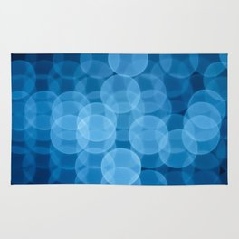 circles light blue Rug
