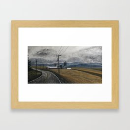 Leaving West Virginia Framed Art Print