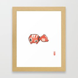Akabeko [Special Lucky Toy Box] Framed Art Print