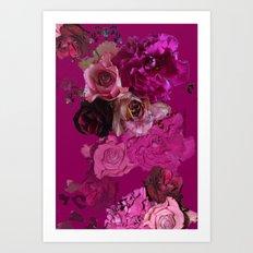 Winter Roses Art Print