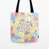 kaleidoscope Tote Bags featuring Kaleidoscope by Syrupea