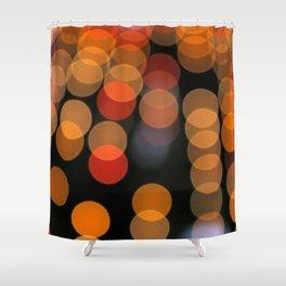 Blurred Orange Lights Shower Curtain