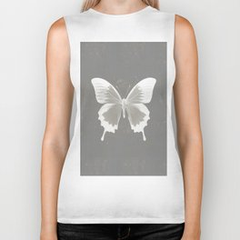 Butterfly on grunge surface Biker Tank
