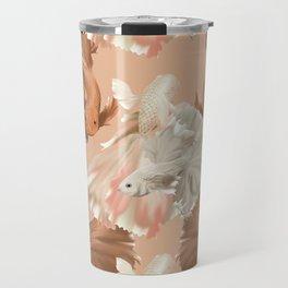 Tan Pisces Travel Mug