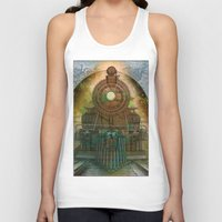 train Tank Tops featuring Train by evisionarts