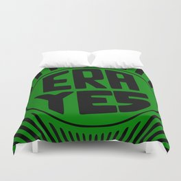 ERA YES - Green and Black Duvet Cover