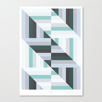 60s Canvas Prints featuring Maze | 60s by Wood + Ink