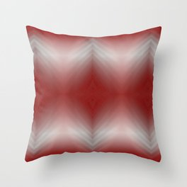 Red Blurr Abstract Diamond Throw Pillow