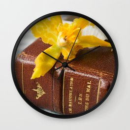 flowers of evil Wall Clock