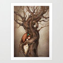 I love you, Old Tree! Art Print