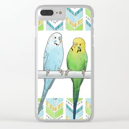 Row of Budgies Clear iPhone Case