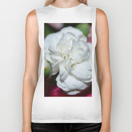 Beautiful white flower Biker Tank