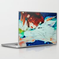 spirited away Laptop & iPad Skins featuring Spirited Away by ALynnArts
