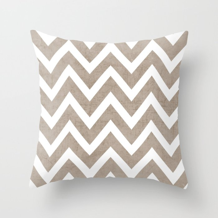 coco chevron Throw Pillow