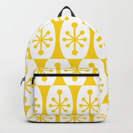 Mid Century Modern Atomic Fusion Pattern Yellow Backpack