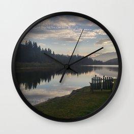Morning Lake Wall Clock