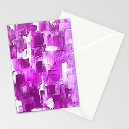 Magenta-licious strokes Stationery Cards