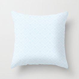 Paris Pastel - Soft Light Blue Mid Century Modern Pattern Throw Pillow